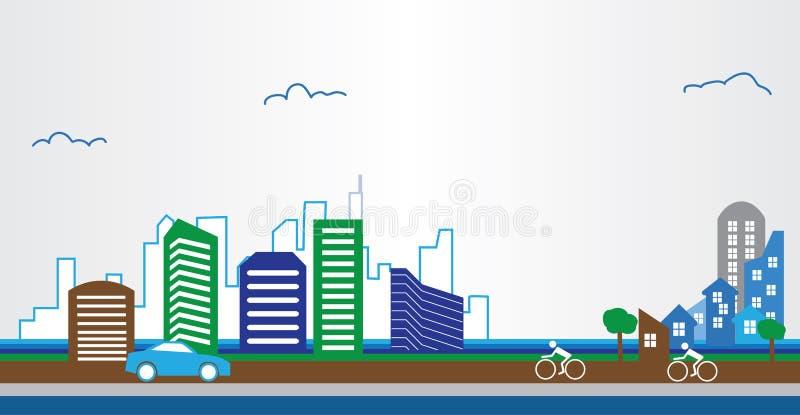 Propiedades inmobiliarias modernas del diseño arquitectónico del edificio stock de ilustración