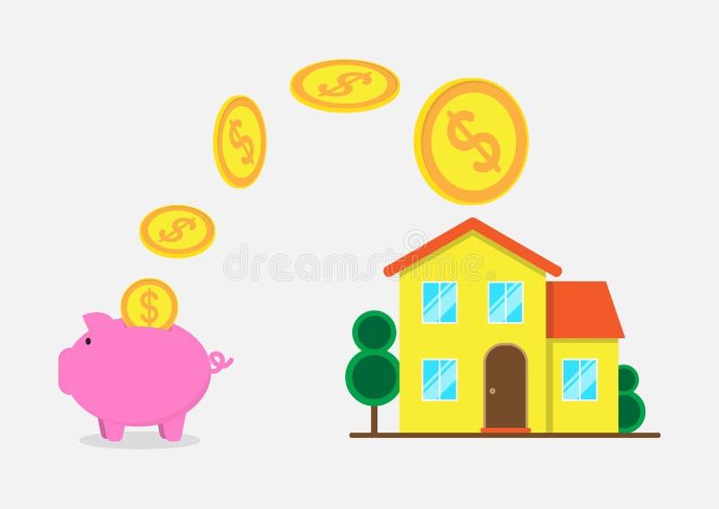 Propiedades inmobiliarias para el alquiler y el diseño plano de la venta stock de ilustración