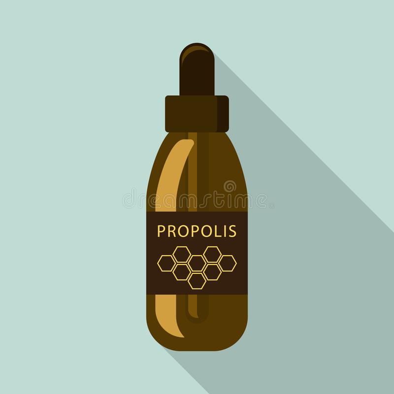 Propolis dropper icon, flat style royalty free illustration