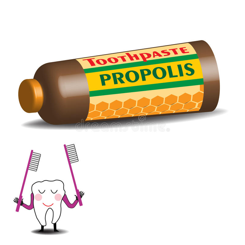 Propolistandkräm stock illustrationer