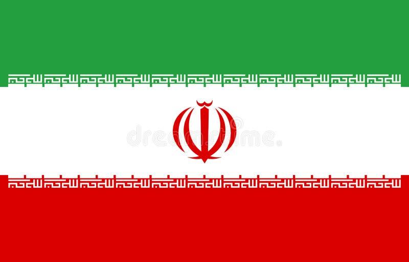 Proportion correcte Illustration de vecteur Le drapeau de l'Iran vole dans le vent Drapeau coloré et national d'Iranien patriotis illustration libre de droits