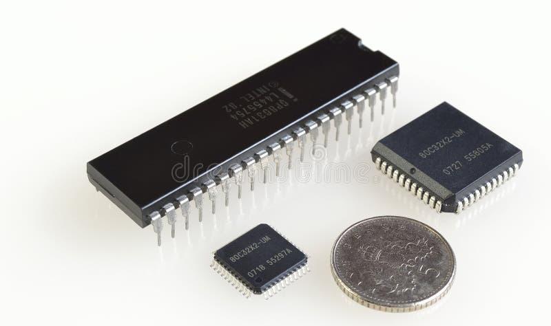 Proportionerar av digitala processorer royaltyfri bild