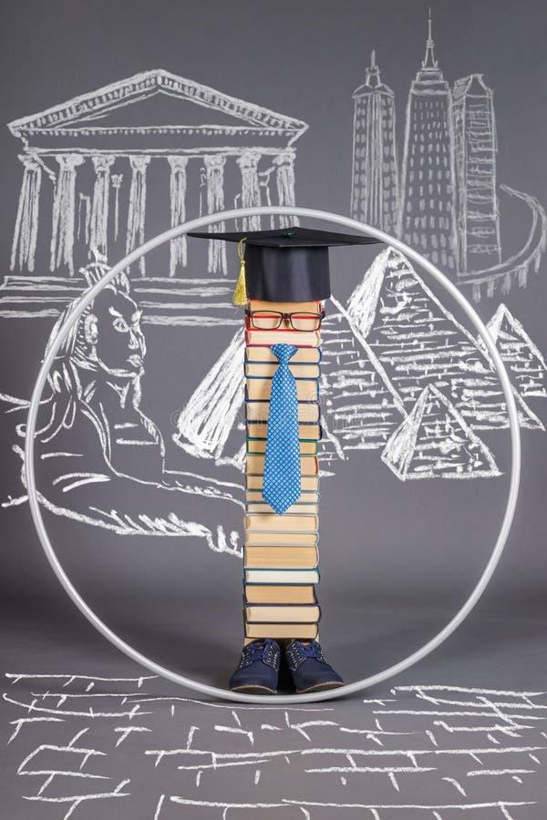 ProportionsModern ha istruito l'uomo intelligente di Vitruvian Concetto di formazione illustrazione di stock