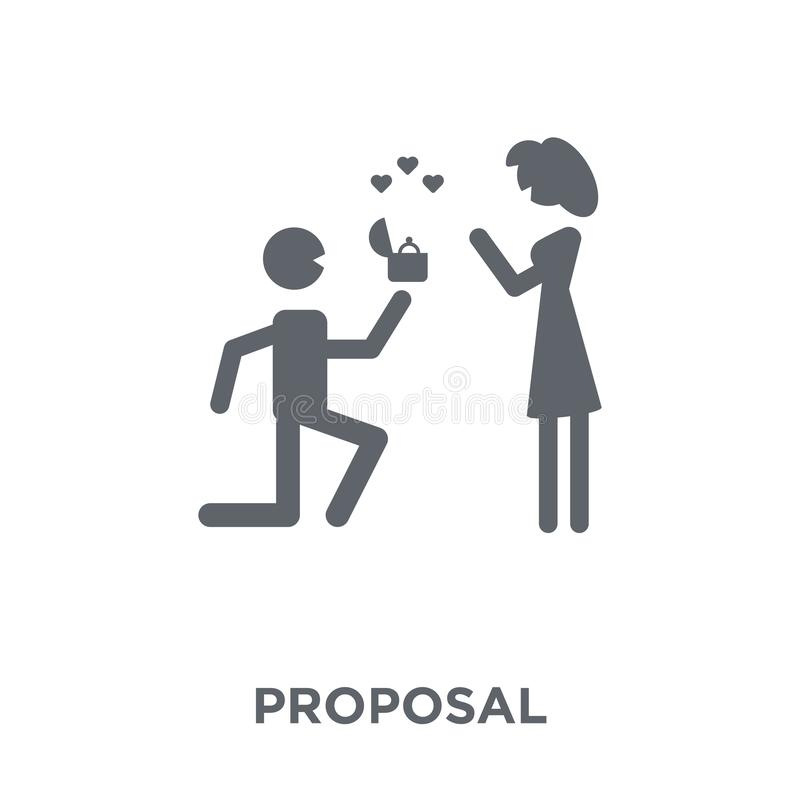Proposal icon from Wedding and love collection. stock illustration