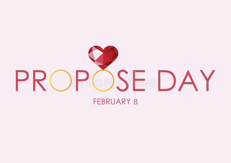 Propose Day lettering vector stock images