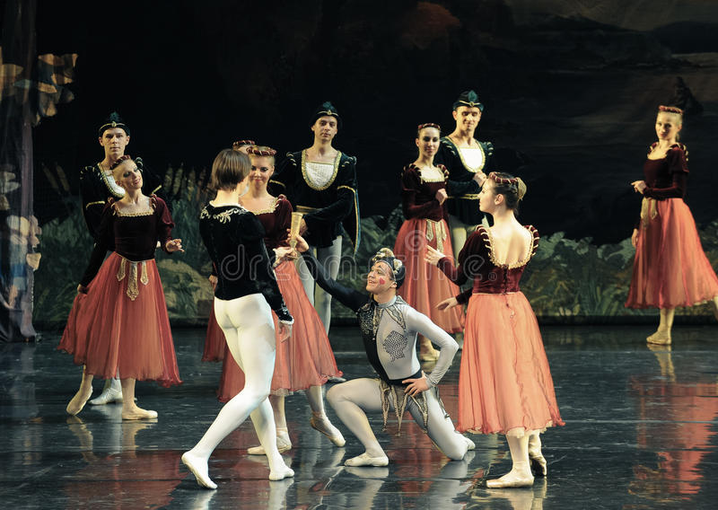 Propose A Toast To The Prince Ballet Swan Lake Editorial Image