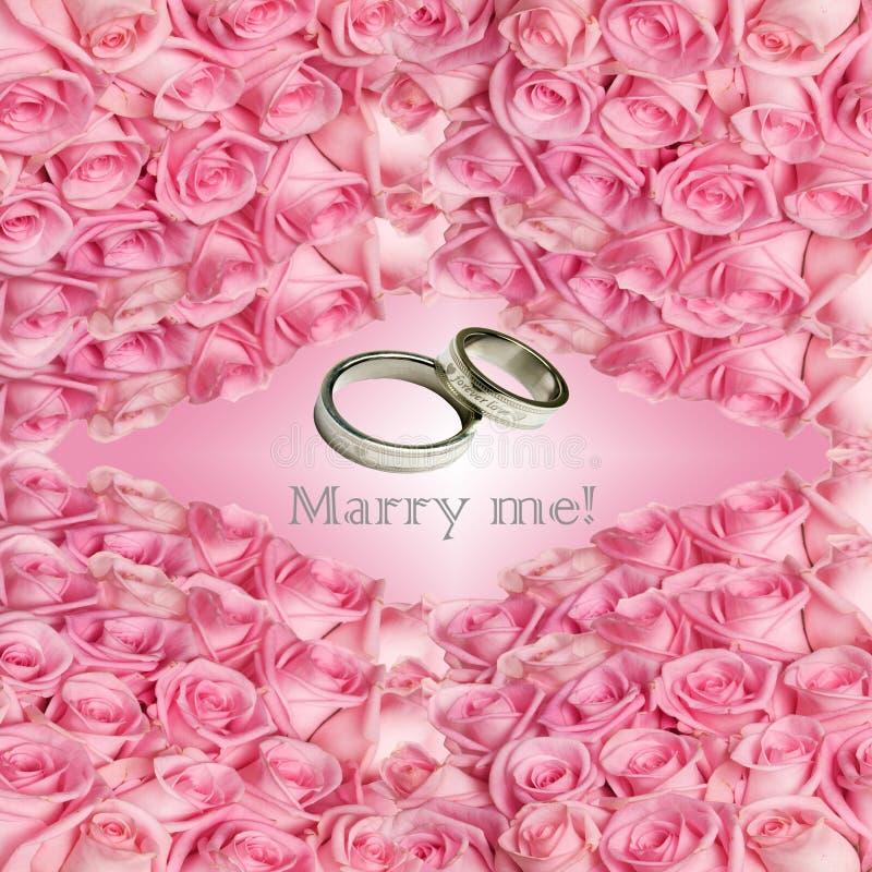 Proposez la carte de mariage image libre de droits
