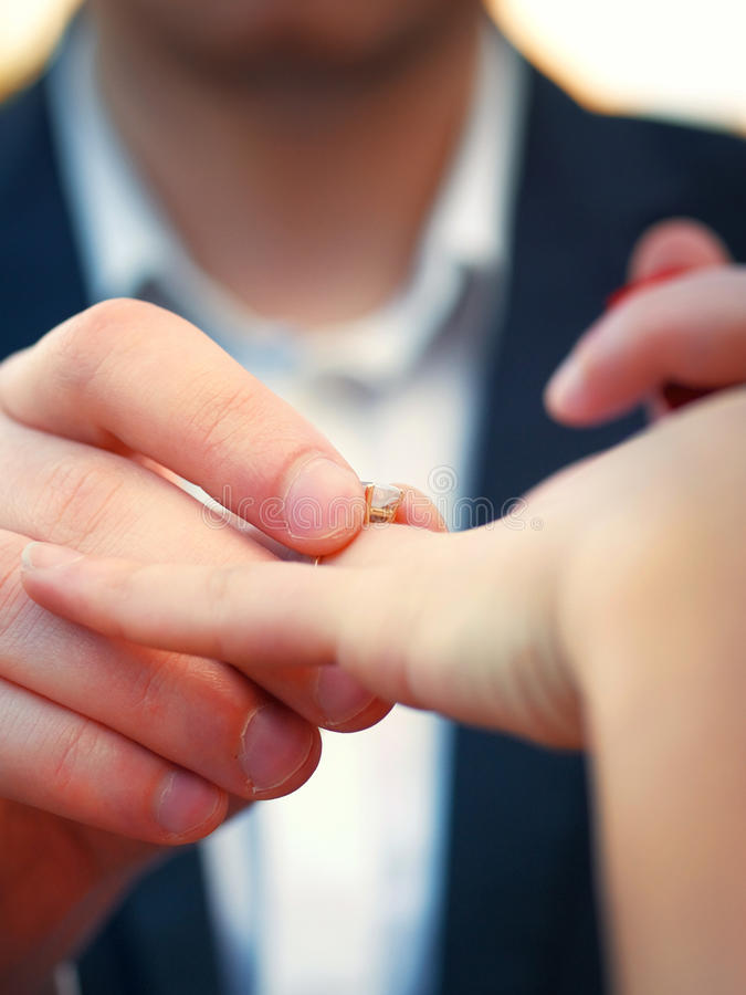 Proposing to her. Shot from below royalty free stock photos