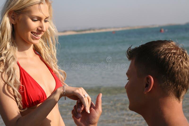 Proposition de mariage photographie stock