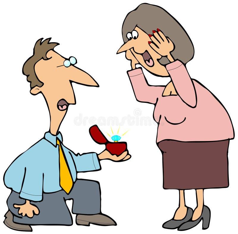 Proposition de mariage illustration stock