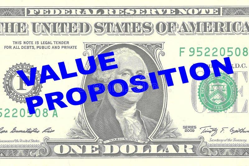 Proposition de valeur - concept financier illustration de vecteur