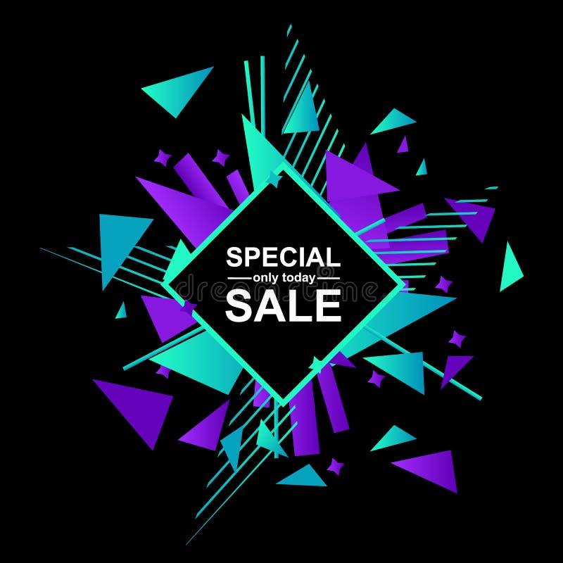 Proposition för special försäljning på abstrakt explosion vektor illustrationer