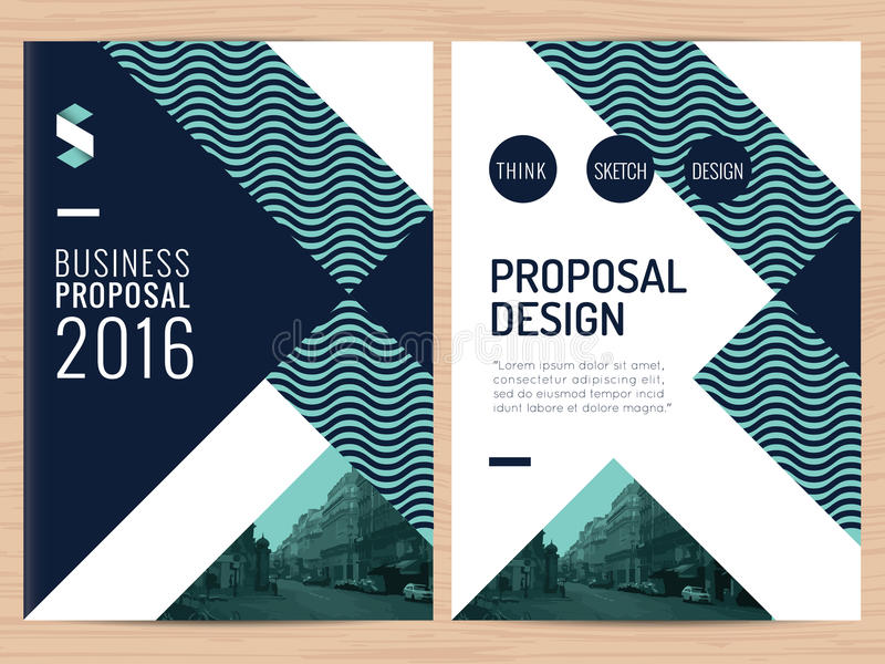 Proposition propre moderne d'affaires, rapport annuel, brochure, insecte, tract, calibre d'entreprise de conception de présentati image stock