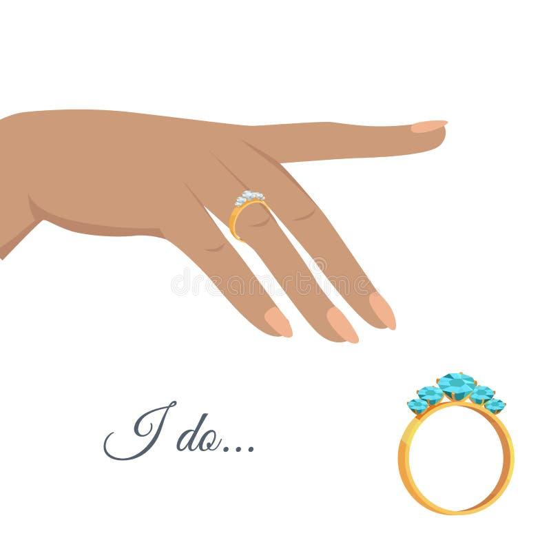 Proposta di matrimonio o concetto di vettore di impegno illustrazione vettoriale