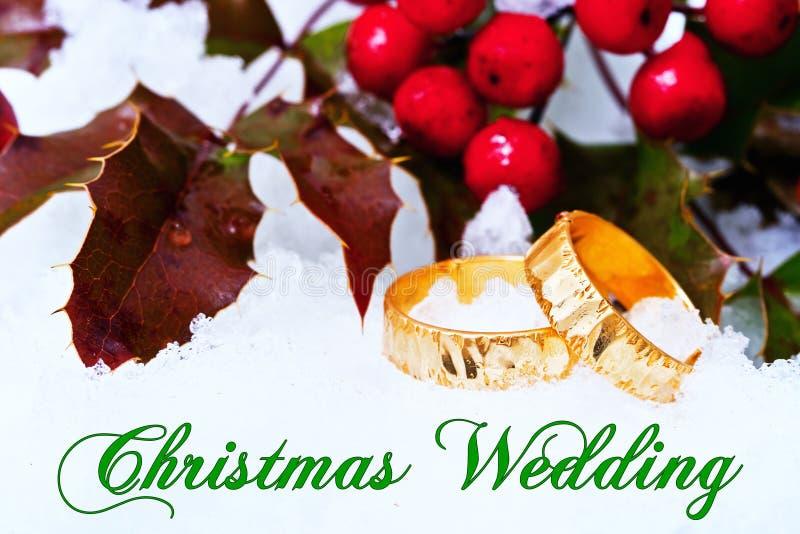Proposta do casamento do Natal imagem de stock royalty free