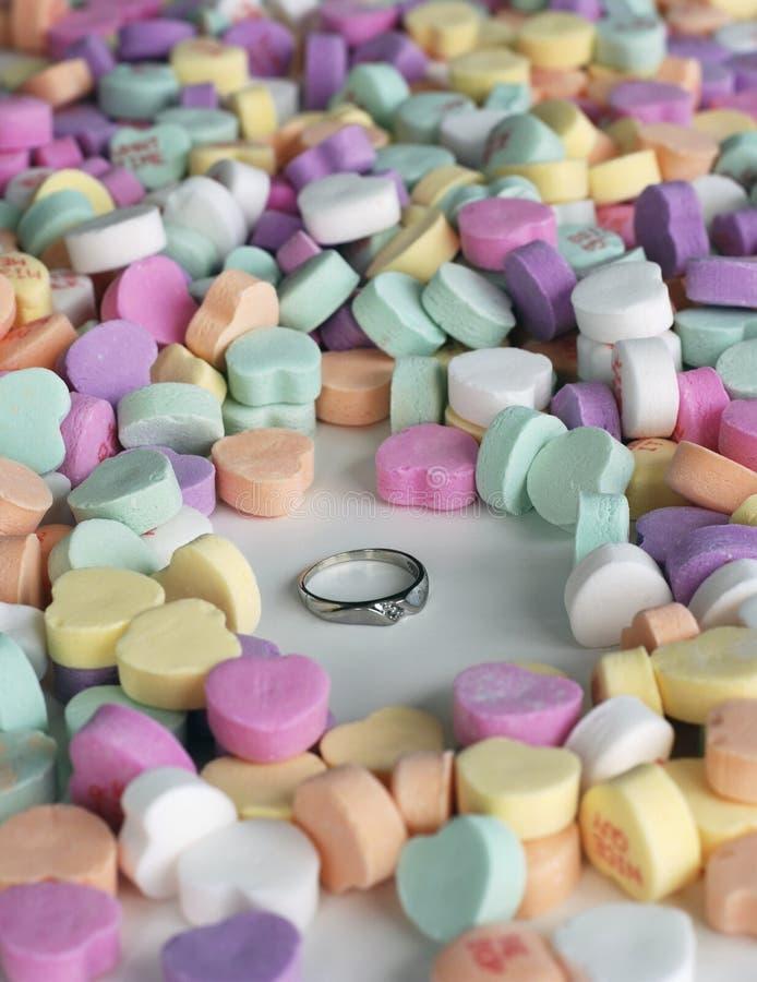 Proposta do dia do Valentim foto de stock royalty free