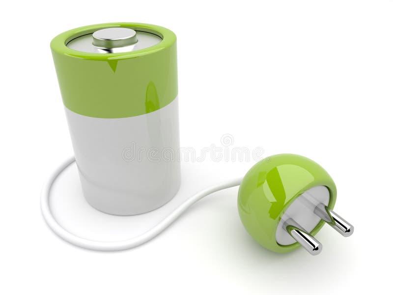 propp för illustration för uppladdare för batteri 3d royaltyfri illustrationer