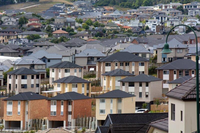 Propriété et marché de l'immobilier de logement du Nouvelle-Zélande photographie stock