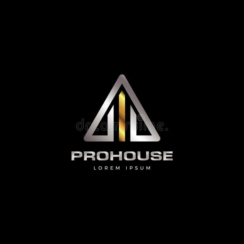 Propriété moderne Logo Symbol Icon de Chambre de forme abstraite de triangle illustration de vecteur
