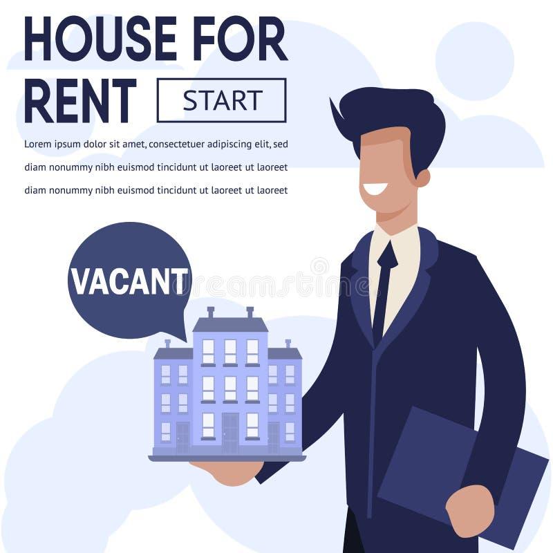 Propriété Real Estate de la publicité de bannière pour le loyer illustration libre de droits
