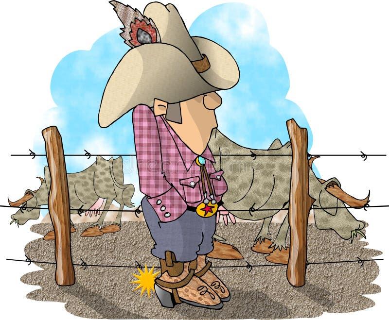 Propriétaire d'un ranch de bétail illustration libre de droits