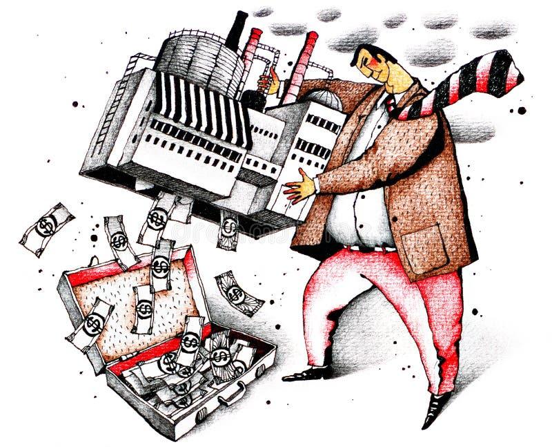 Propriétaire d'usine illustration stock