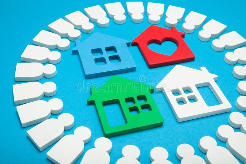 Propriétaire de propriété, inspecteur de maison, le meilleur appartement à la maison images stock