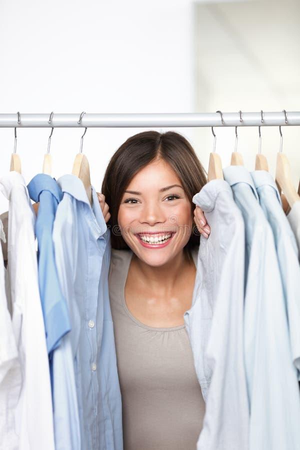 Propriétaire de système de vêtement de petite entreprise photos libres de droits