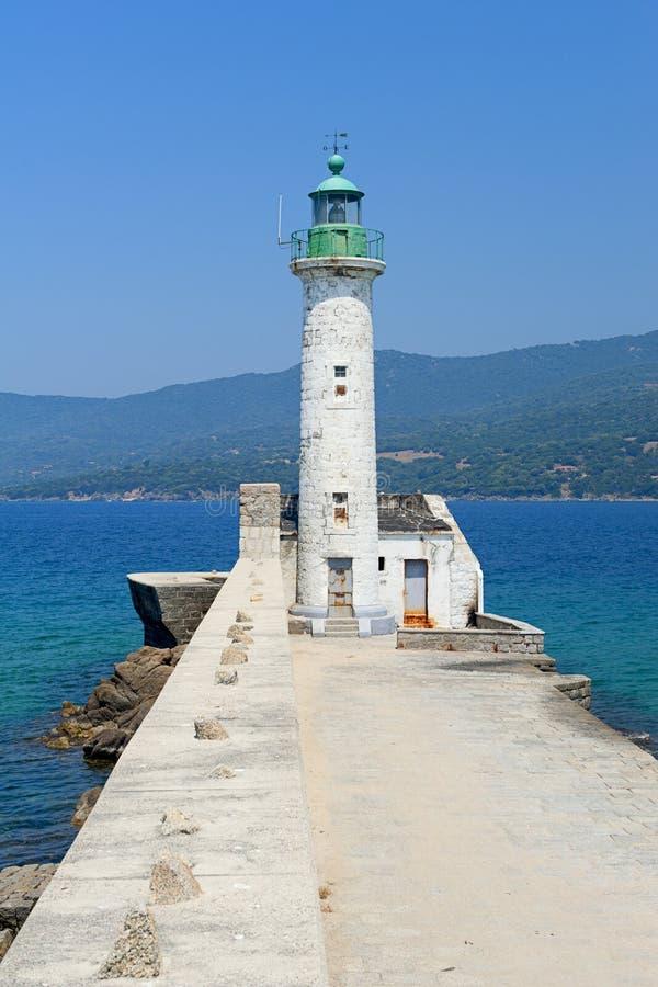 propriano маяка Корсики стоковые фотографии rf
