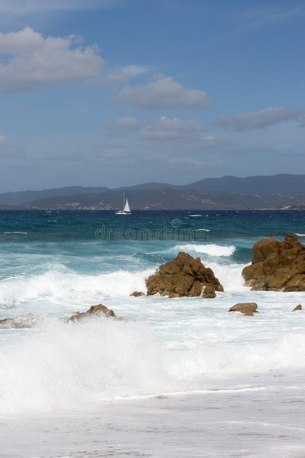 Proprianostrand in Corse - Frankrijk royalty-vrije stock foto