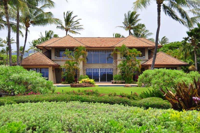 Propriedade da praia de Maui imagem de stock