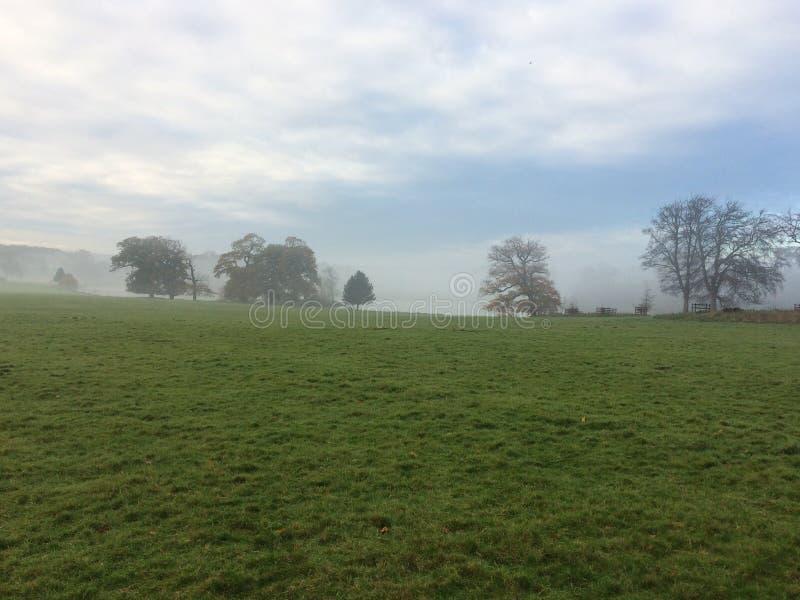 Propriedade de Holkham na névoa 1 imagens de stock royalty free