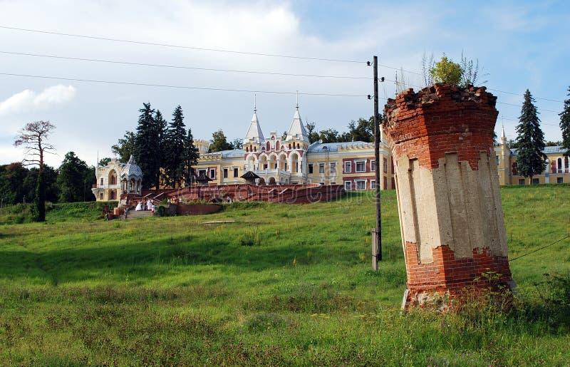 A propriedade do barão von-Derwis em Kiritsakh Sanatório hoje em dia tubercular Região de Ryazan imagem de stock