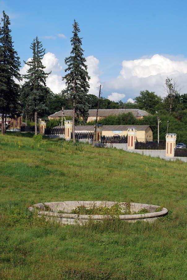 A propriedade do barão von-Derwis em Kiritsakh Sanatório hoje em dia tubercular Região de Ryazan fotografia de stock royalty free
