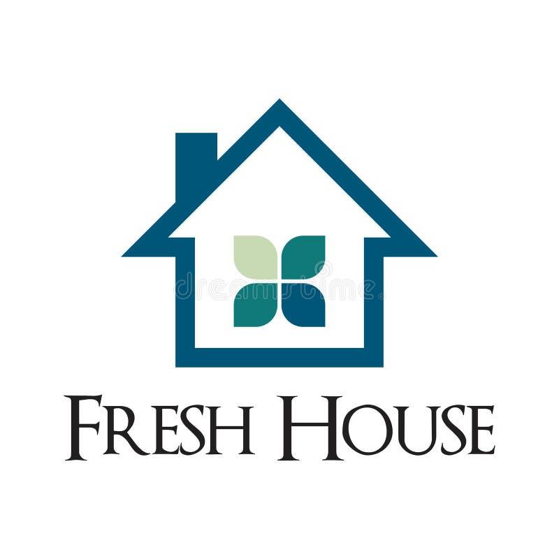 Propriedade fresca Logo Template da casa de campo da casa da casa da janela ilustração do vetor