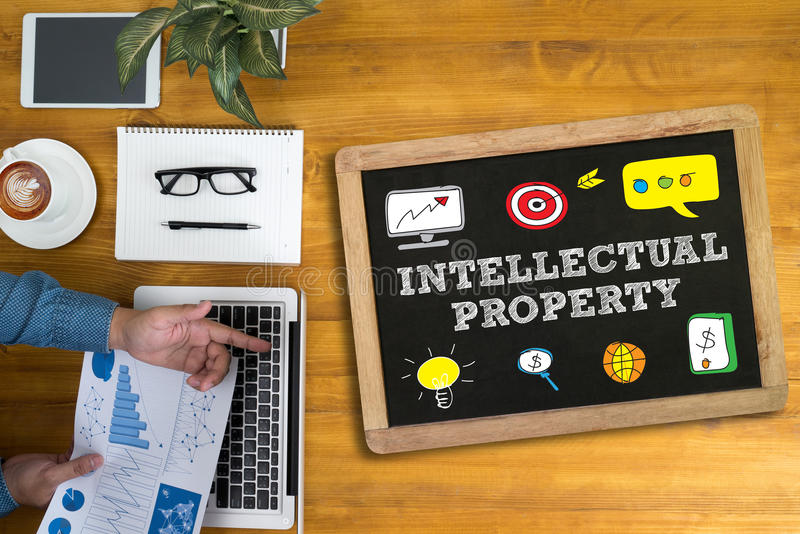 Propriedade intelectual imagens de stock royalty free