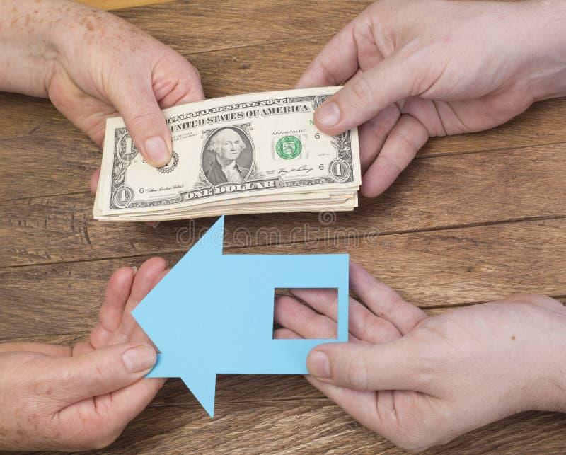 Propriedade no dinheiro - conceito da compra foto de stock royalty free