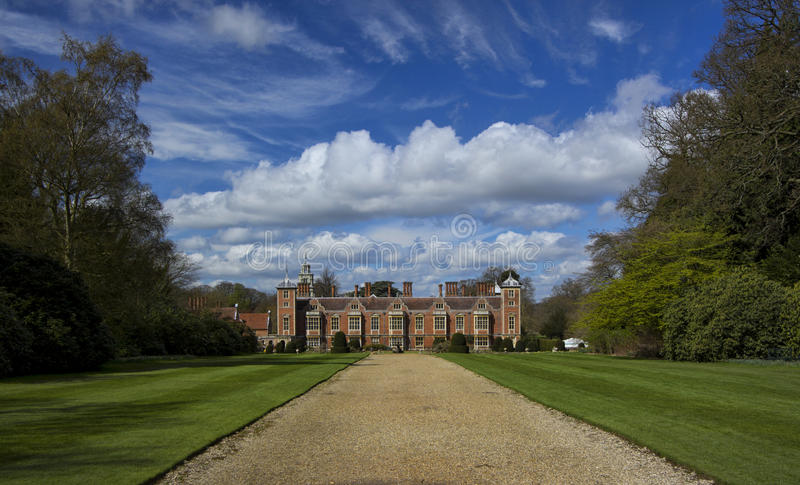 Propriedade Norfolk Engand de Blickling Salão Anne Boleyn foto de stock royalty free