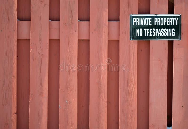 Propriedade privada fotografia de stock