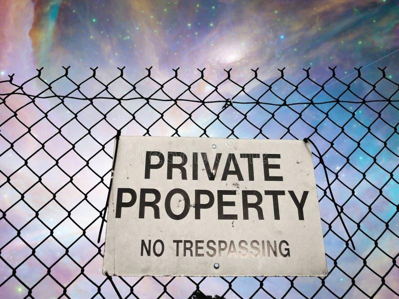 Propriedade privada imagens de stock