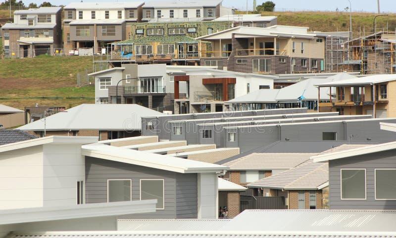 Proprietà degli alloggi nuovi in costruzione fotografia stock