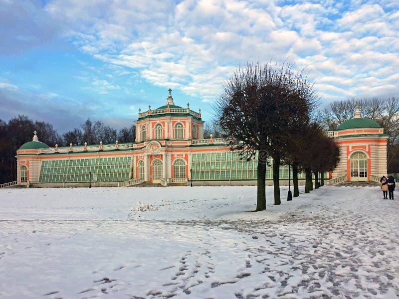 Proprietà di Kuskovo nel giorno di inverno di Mosca Russia fotografie stock