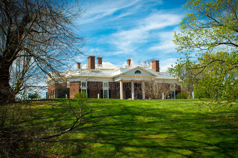 Proprietà di Monticello da sotto immagini stock