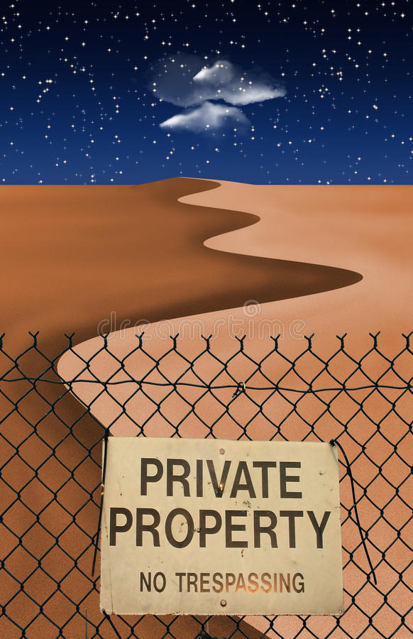 Proprietà privata del deserto royalty illustrazione gratis
