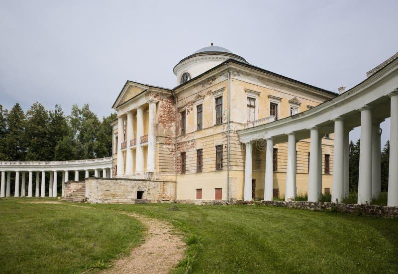 Proprietà terriera antica Znamenskoe-Rak nella regione di Tver' fotografie stock