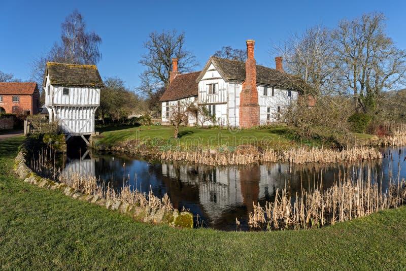 Proprietà terriera di Brockhampton e Gatehouse, Herefordshire, Inghilterra immagine stock