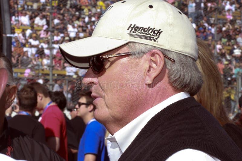 Proprietário de carro Rick de NASCAR Hendrick foto de stock royalty free