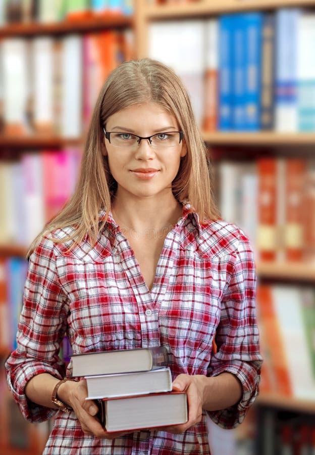 Proprietário de livrarias imagem de stock