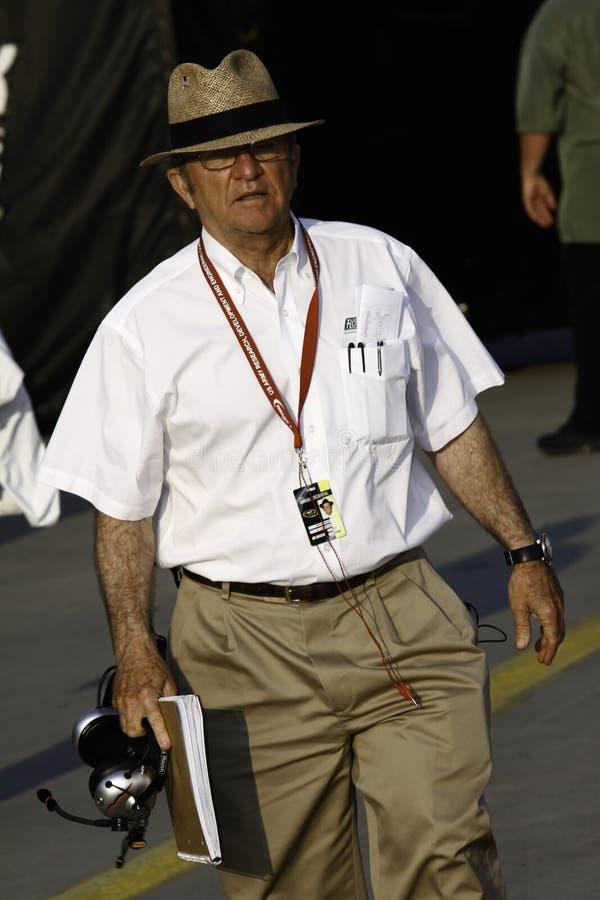 Proprietário Jack Roush de NASCAR foto de stock
