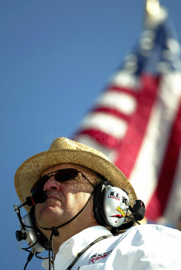 Proprietário Jack Roush do copo de NASCAR Sprint fotografia de stock royalty free